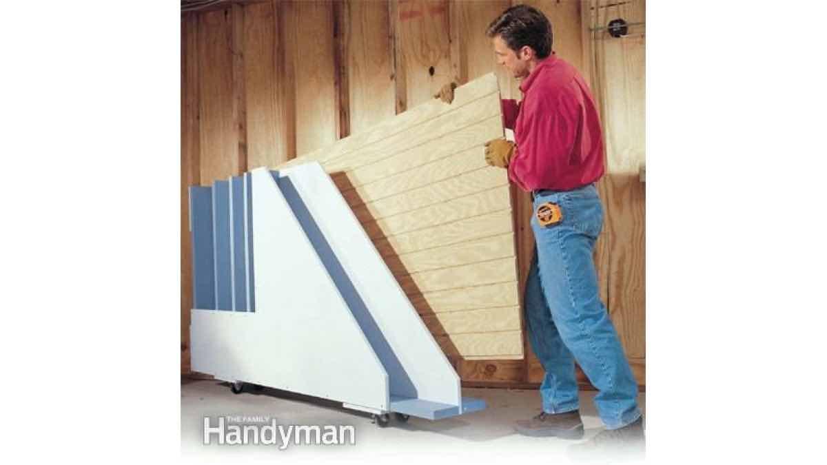 plywood rack,storage,free woodworking plans,wokshop projects,diy