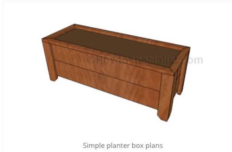Build a Simple Planter Box using free plans.