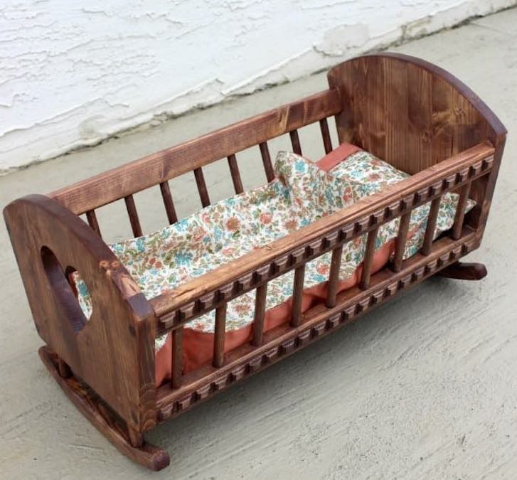 Build a doll cradle using this Doll Cradle Free Plan.
