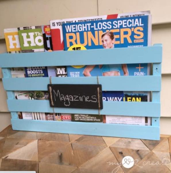 Create a Magazine Rack using free plans.