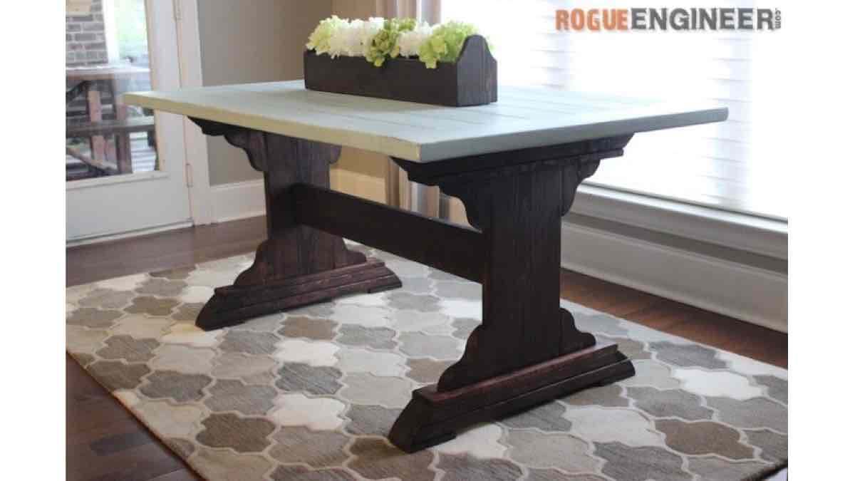 tables,dining room tables,farmhouse tables,diy,free woodworking plans,free projects,do it yourself