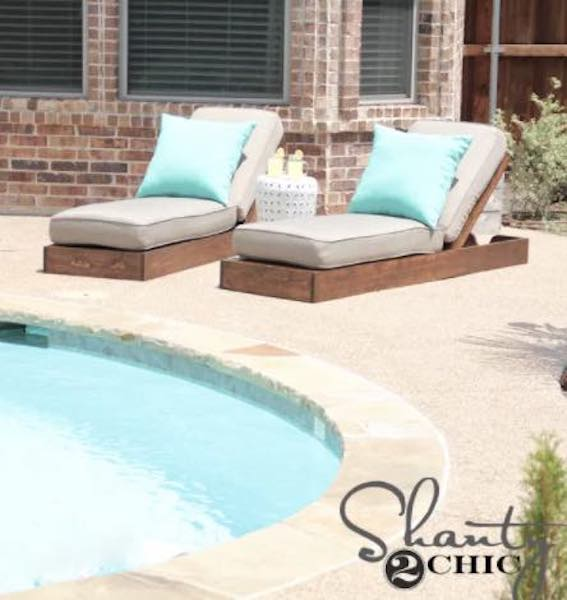 Free plans to build Chic Lounge Chairs.