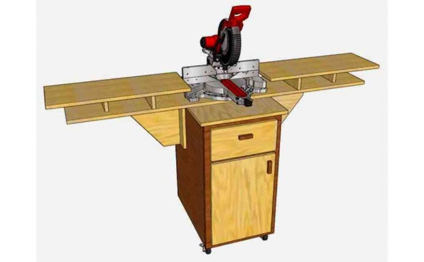 DIY Simple Easy Miter Saw Station Free Woodworking Plans.