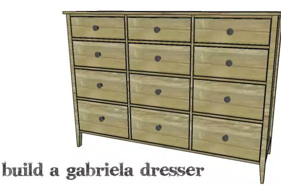 Free plans to build a 12 Drawer Dresser.