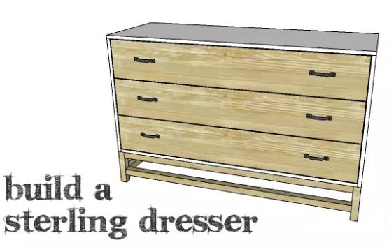 Build a 3 drawer dresser with these free plans.