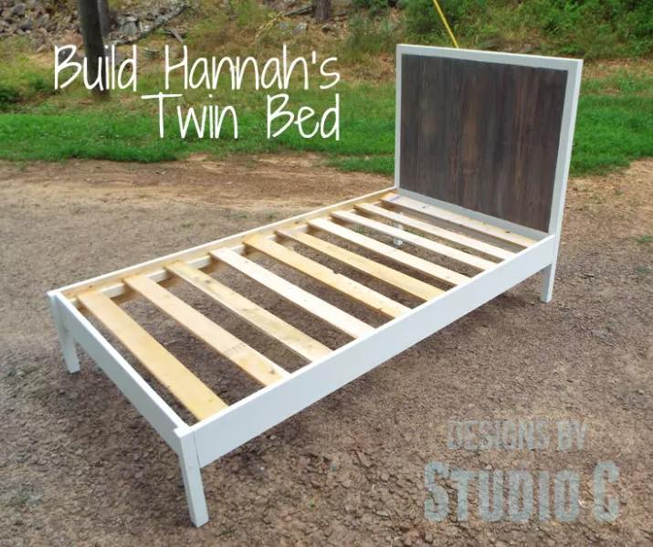 Free woodworking plans to build a Twin Bed.