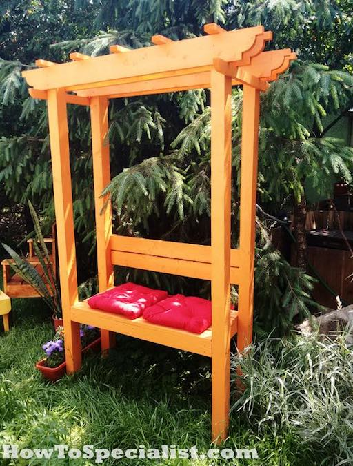 Free plans to build an Arbor with Bench.