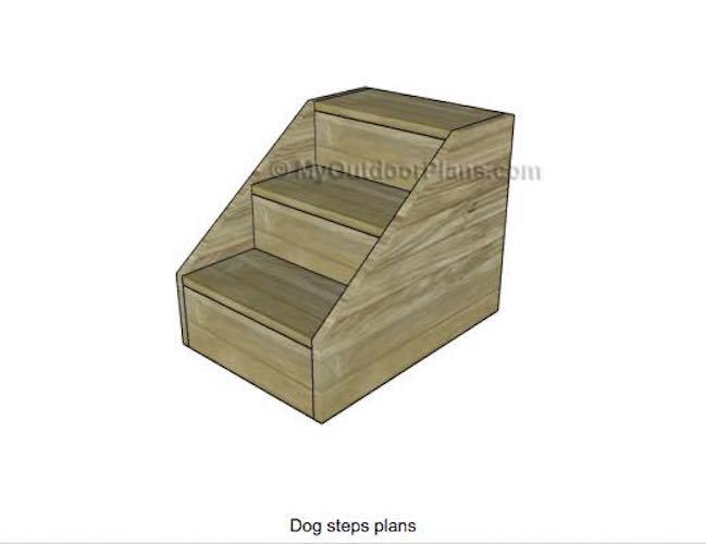 Build a set of Dog Steps using free plans.