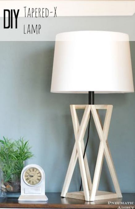 Free plans to build a Tapered X Lamp.