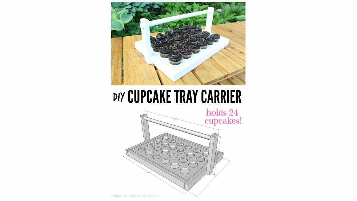 stand,tray,carrier,cupcakes,diy,free woodworking plans,free projects,do it yourself