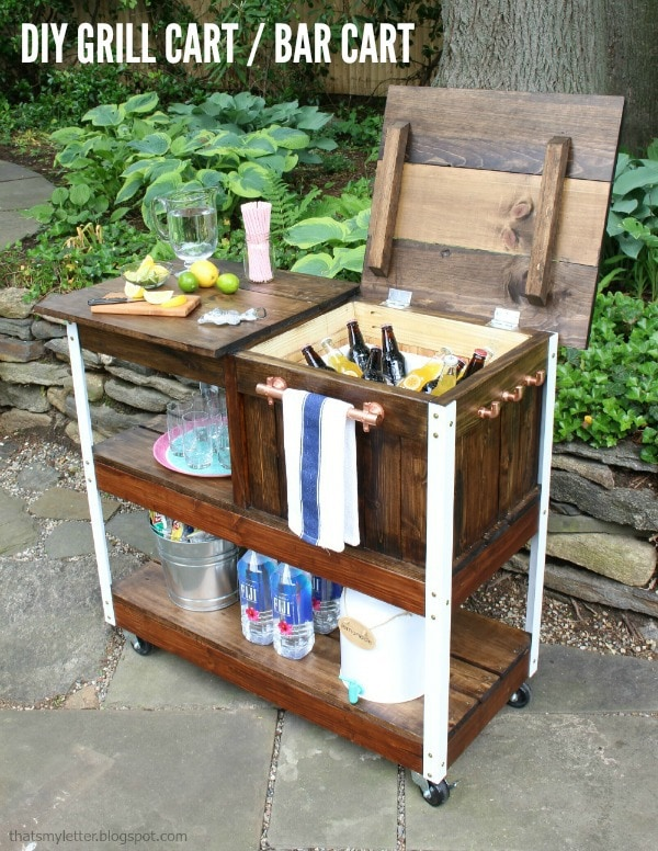 Grilling Cart Free Woodworkin Plans.