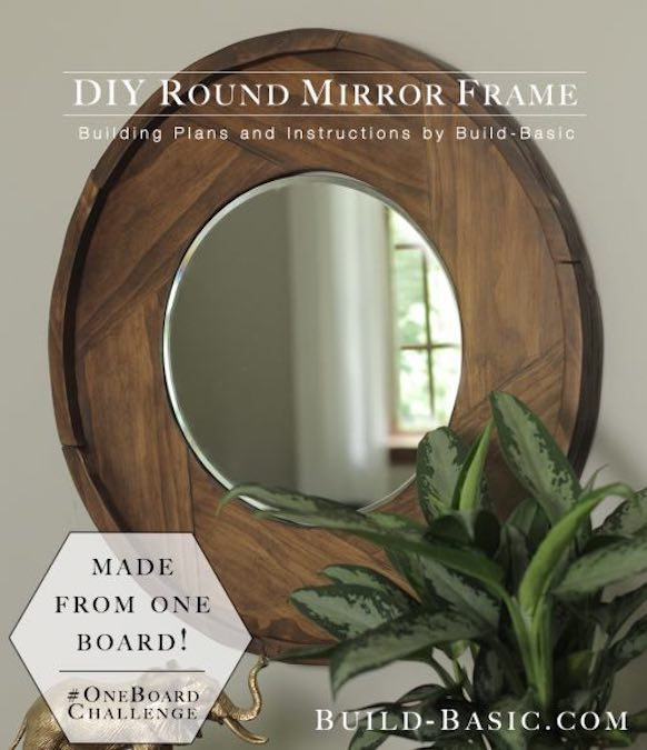 Build a Round Mirror Frame Using 1 Board.