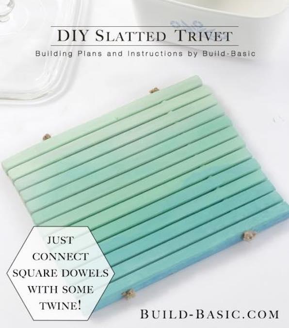 Build a Slatted Trivet using free plans.