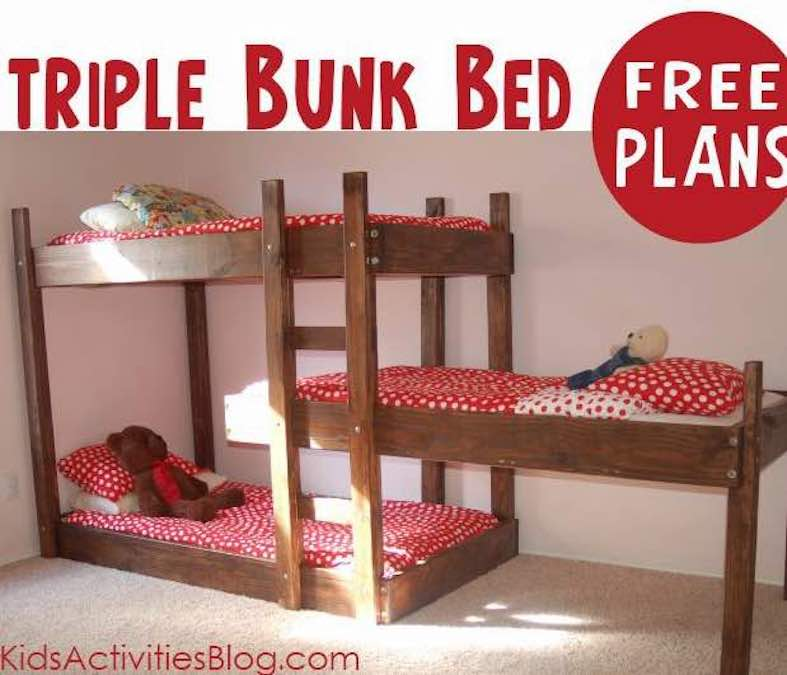 Free plans to build a set of Bunk Beds.