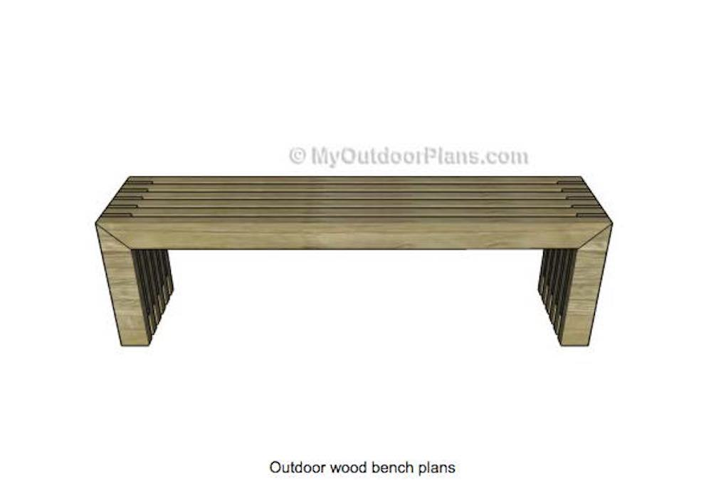 Free woodworking plans to build a Bench.