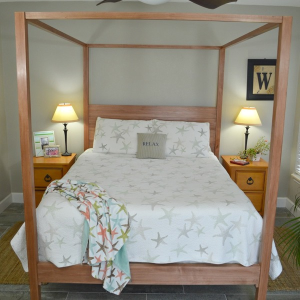 Build a Four Post Canopy Bed.