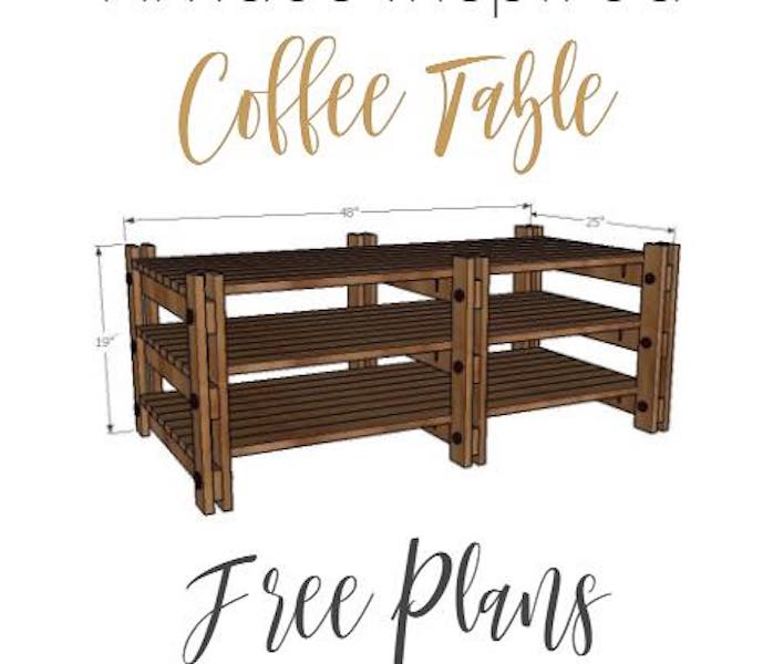 Use these Coffee Table Free Plans to build a new coffee table.