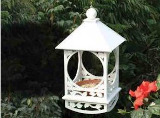 Free plans to build a Victorian Bird Feeder.