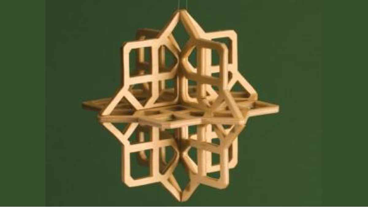 scroll saws,ornaments,christmas,snowflakes,3D,diy,free woodworking plans,free projects,do it yourself