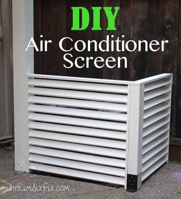 Build a Louvered Air Conditioner Screen using free plans.