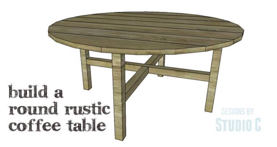 Free woodworking plans to build a Round Coffee Table.