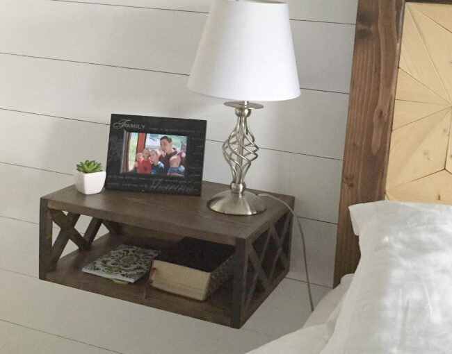 Free plans to build a Floating Nightstand.
