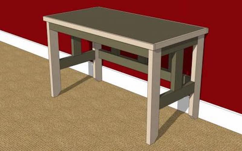 Build a 2 x 4 Desk using free plans.
