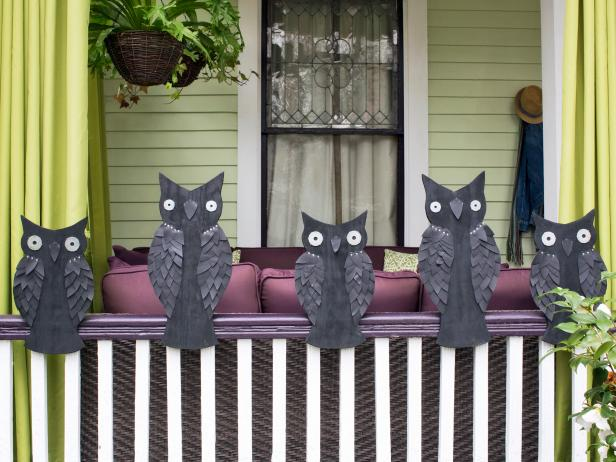Owl Halloween Yard Art