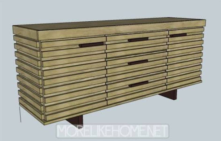 Free plans to build a Sideboard with Storage.