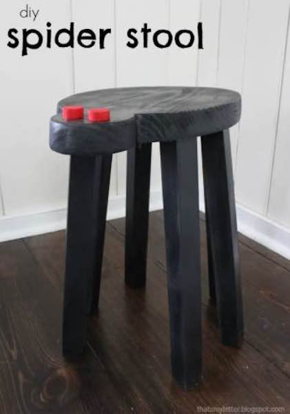 Free plans to build a Spider Stool.