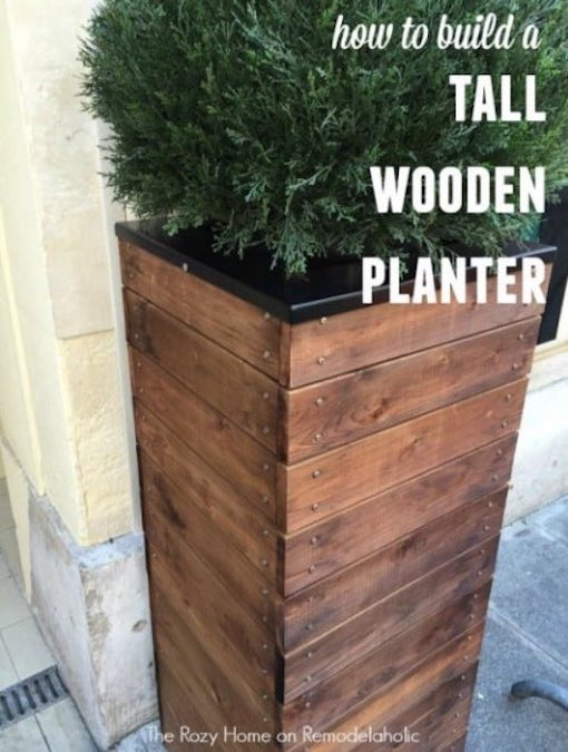 Build a Tall Planter Box using free plans.