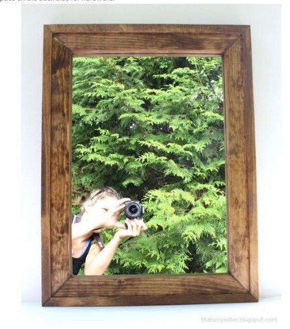 Build this Simple Mirror Frame using free plans.