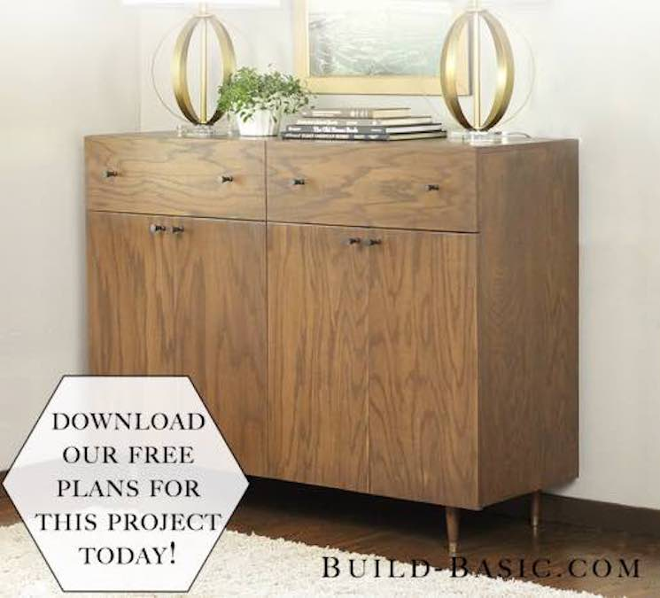 Free plans to build a Sideboard Cabinet.
