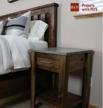 Nightstand with Concrete Top PDF