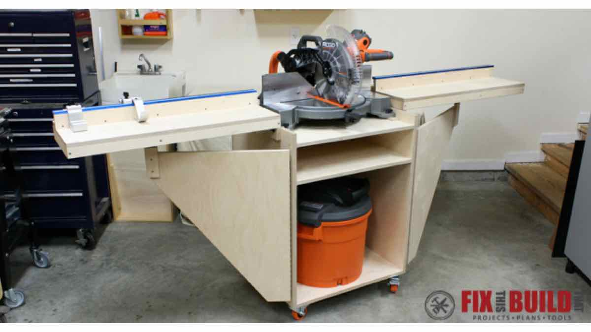 mitersaw stationdiy,free woodworking plans,free projects,do it yourself