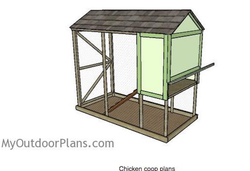 Build an Elevated Chicken Coop using free plans.