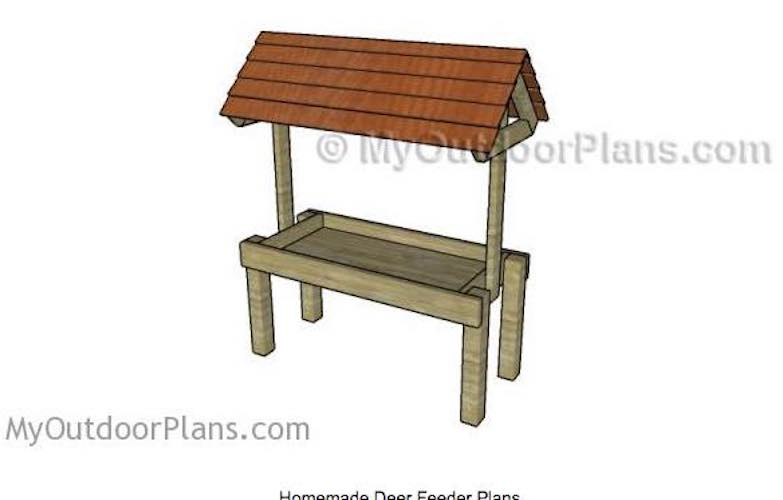 Free plans to build a Deer Feeder.