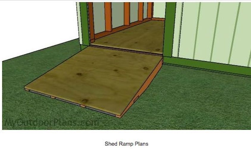 Build a Ramp For Shed using free plans.
