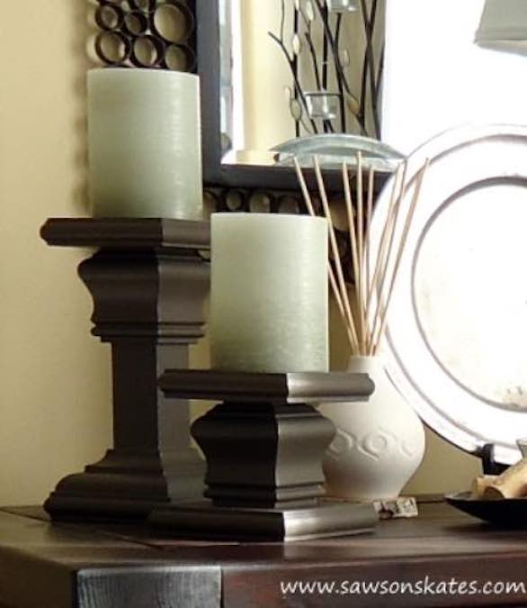 Free plans to build Pillar Candle Holders.