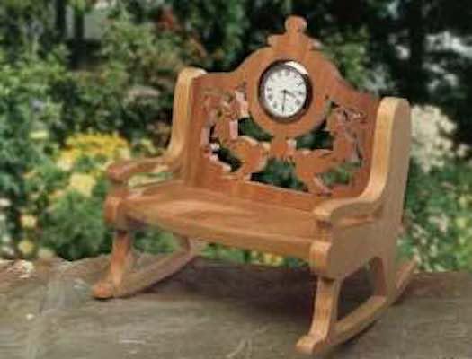 Build a Hummingbird Rocking Chair Clock using free plans.