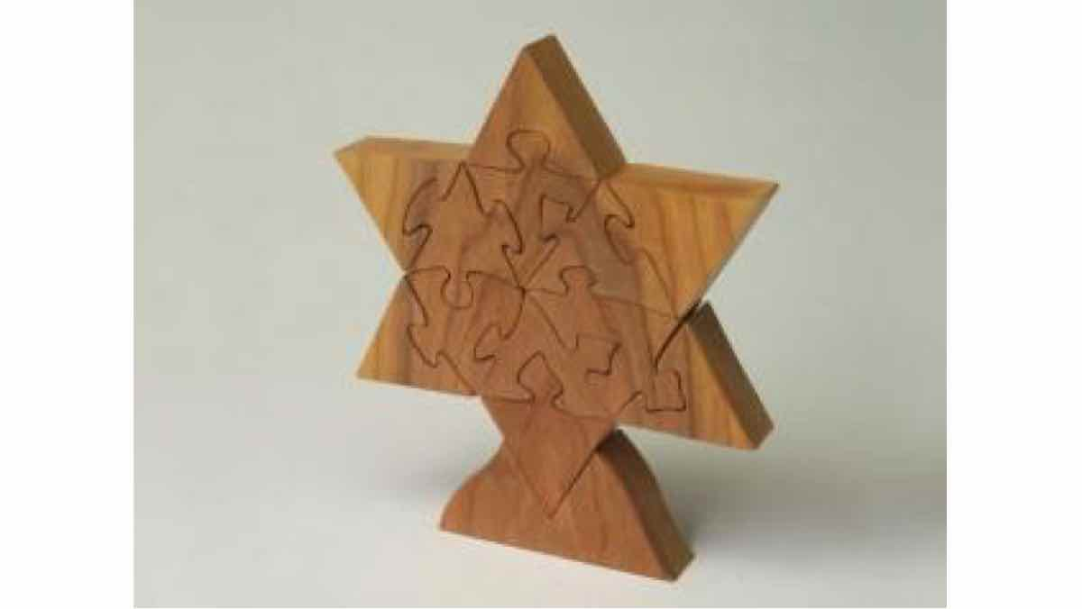jewish,star of david,scroll saws,puzzles,diy,free woodworking plans,free projects,do it yourself