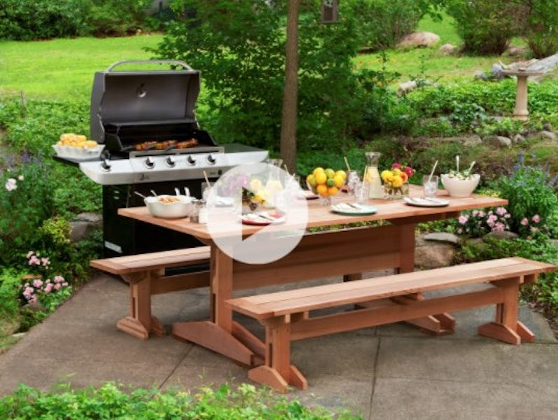 Free plans to build a Picnic Table.