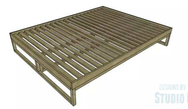 Build your own Platform Bed Queen Size.