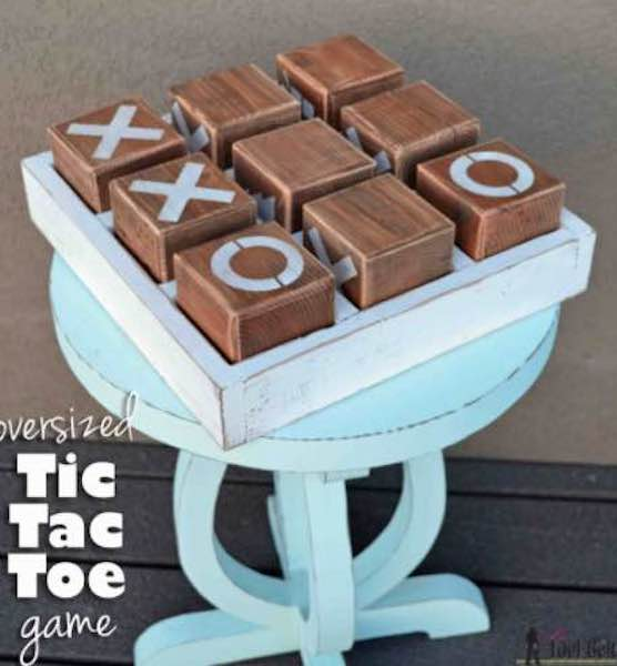 Build an Oversized Tic Tac Toe Game using free plans.