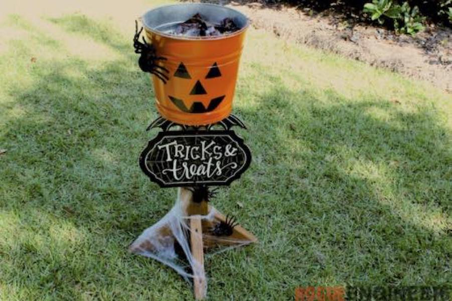 Build a Halloween Candy Stand using free plans.