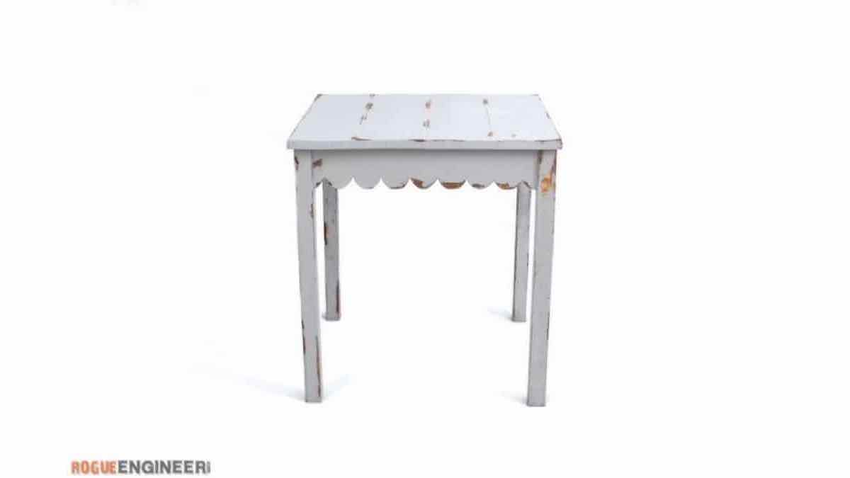 scalloped end tables,furniture,diy,free woodworking plans,free projects,do it yourself