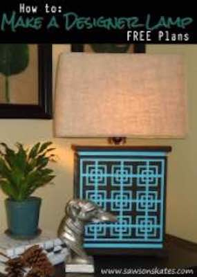 Free plans to build a Stenciled Base Lamp.