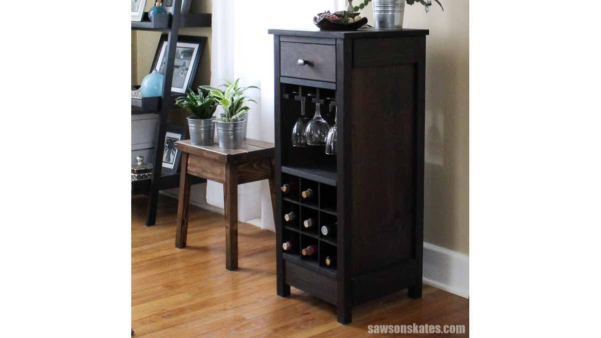 wine racks,wine cabinets,furniture,diy,free woodworking plans,free projects,do it yourself