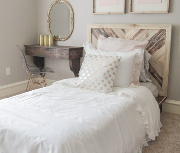 Learn how to build a Twin Platform Chevron Bed.