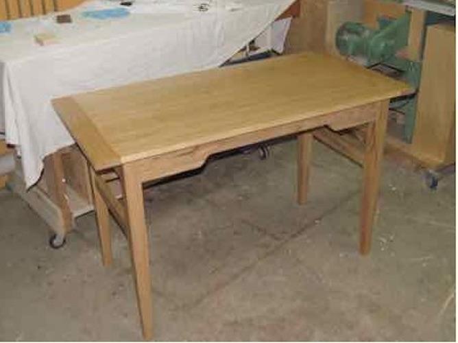 Build a Sturdy Writing Desk using free plans.